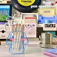 กล่องใส่ปากกา-ดอกไม้แจกัน-Acrylic-แบบ-Cinnamoroll-H