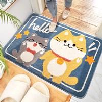 พรมเช็ดเท้า-non-slip-พรมตกแต่งในบ้าน-ลายแมว-Hello
