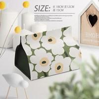 กล่องใส่ทิชชู่-ลาย-Marimekko-สีเขียวอ่อน