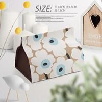 กล่องใส่ทิชชู่-ลาย-Marimekko-สี-Milk-Tea