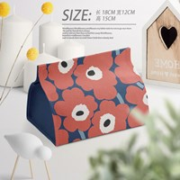 กล่องใส่ทิชชู่-ลาย-Marimekko-สีแดง