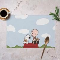 แผ่นรองจาน-Waterproof-Snoopy--แบบ-B