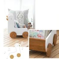 รถเข็นกล่องเก็บของ-Nordic-cute-woodenbox-ลาย-เป็ดน้อย