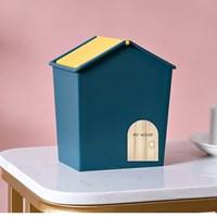 กล่องบ้านใส่ของ-อเนกประสงค์-Mini-Storage-Box-สีน้ำเงิน