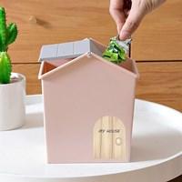 กล่องบ้านใส่ของ-อเนกประสงค์-Mini-Storage-Box-สีชมพู