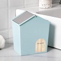 กล่องบ้านใส่ของ-อเนกประสงค์-Mini-Storage-Box-สีฟ้า