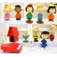 โมเดลฟิกเกอร์-ตุ๊กตา-Snoopy-and-Friend(เซต-12-ชิ้น)