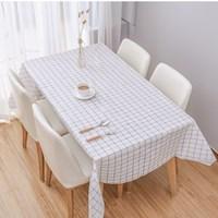 ผ้าปูโต๊ะ-Japanese-Style-ลายตาราง-สีขาวดำ