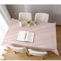 ผ้าปูโต๊ะ-Japanese-Style-ลายตาราง-สีชมพู