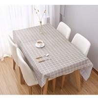 ผ้าปูโต๊ะ-Japanese-Style-ลายตาราง-สีเทา