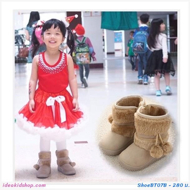 รองเท้าบูท ชาวเอสกิโม สีน้ำตาลอ่อน