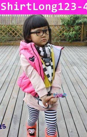 เสื้อกันหนาวแขนยาว คิตตี้ตัวใหญ่ สีชมพู