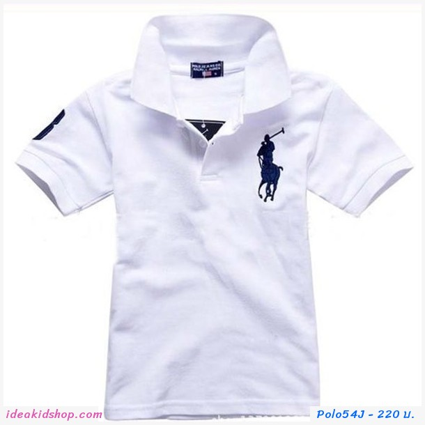 เสื้อยืดโปโล Ralph Lauren No.3 สีขาว